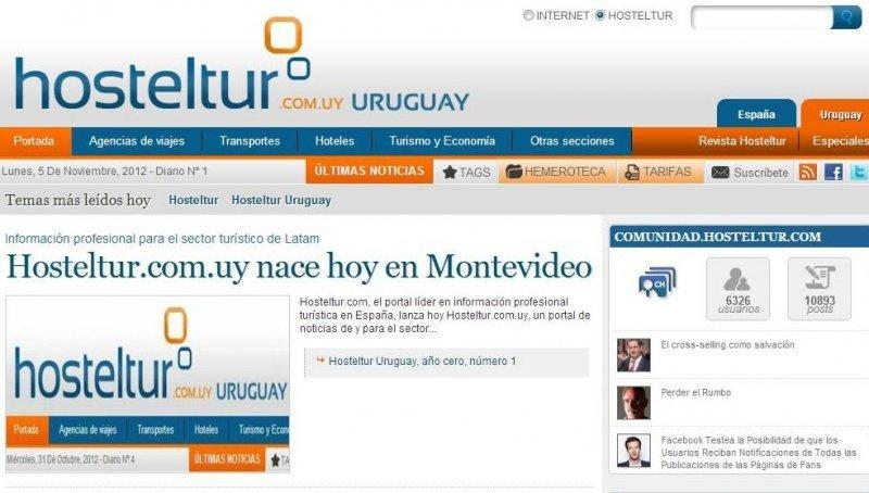 Hosteltur.com.uy nace hoy en Montevideo