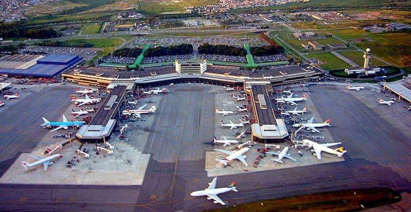 Aeropuerto internacional de San Pablo, Brasil.