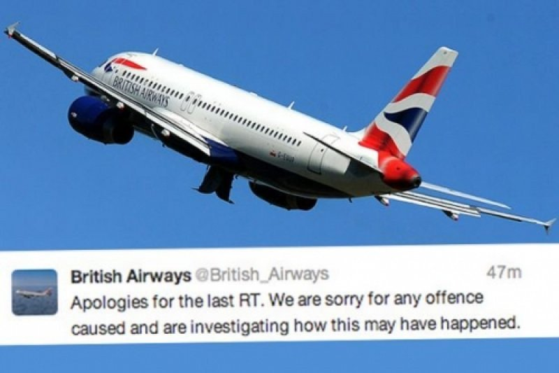 El tweet de disculpas de British Airways