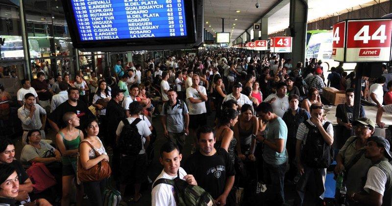 Terminal de ómnibus de Retiro.