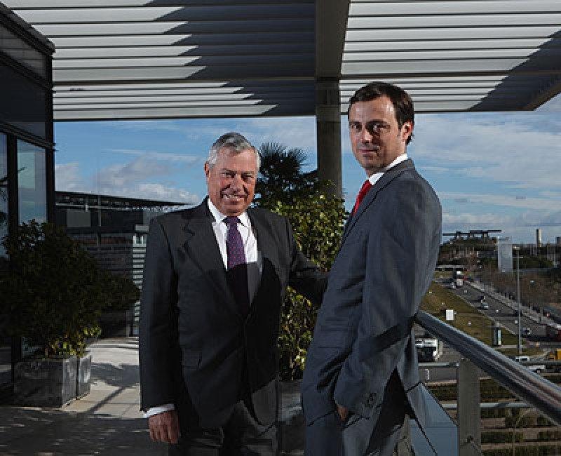 Gonzalo Pascual junto a su hijo Ignacio Pascual de Riva, que fue CEO de Air Comet..