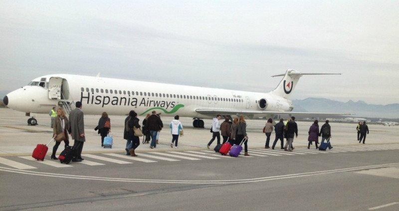 Primeros pasajeros de Hispania Airways, a Roma a principios de diciembre de este año.