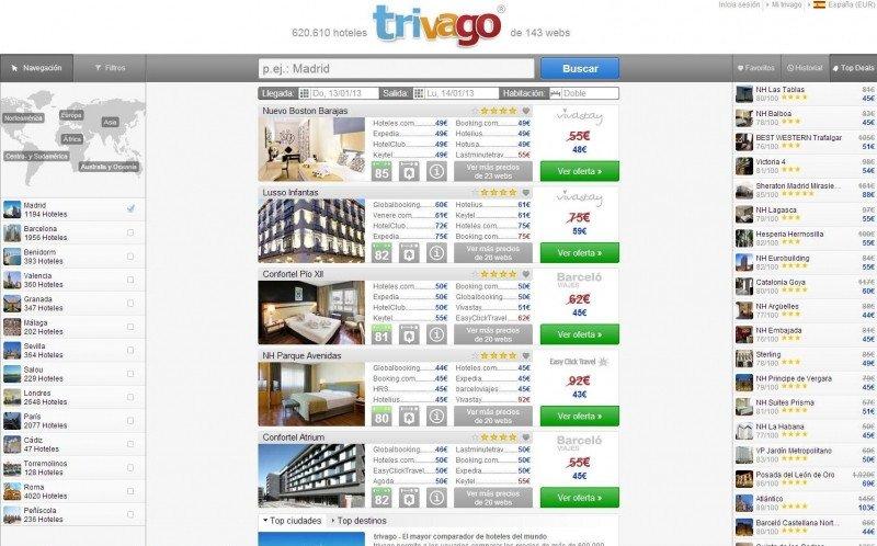Expedia compra el 61,6% de Trivago por 477 M €