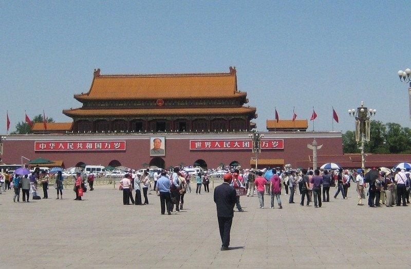 La plaza de Tiananmen, en Pekín.