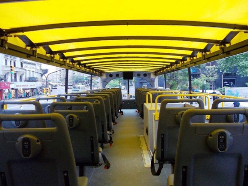 Los ómnibus son de la misma clase que circulan en las mayores capitales del mundo