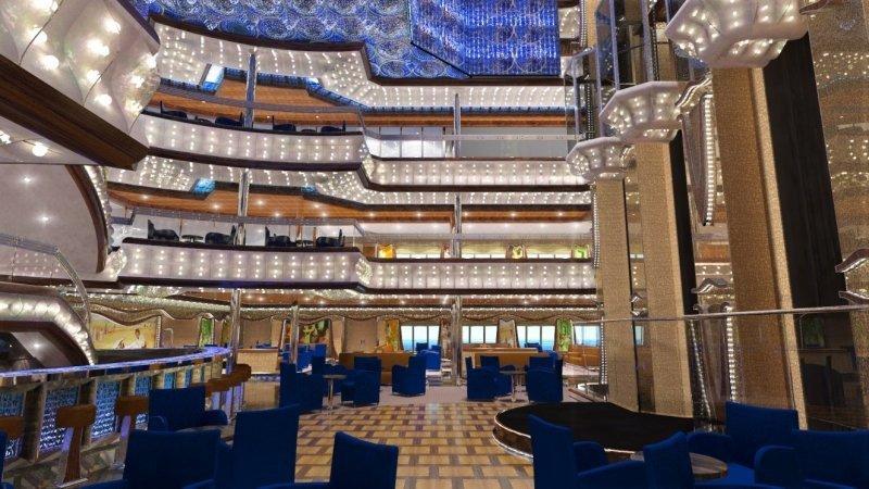 Render de cómo será uno de los ambientes interiores del nuevo barco