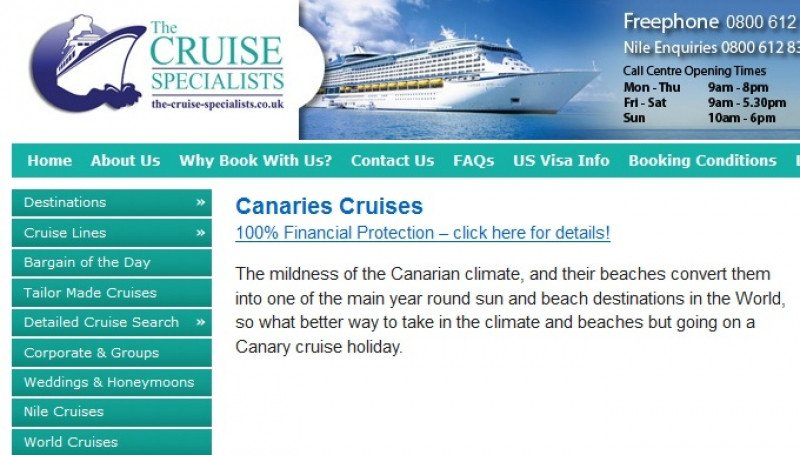 La web de The Cruise Specialists vende anualmente por 40 millones de euros.