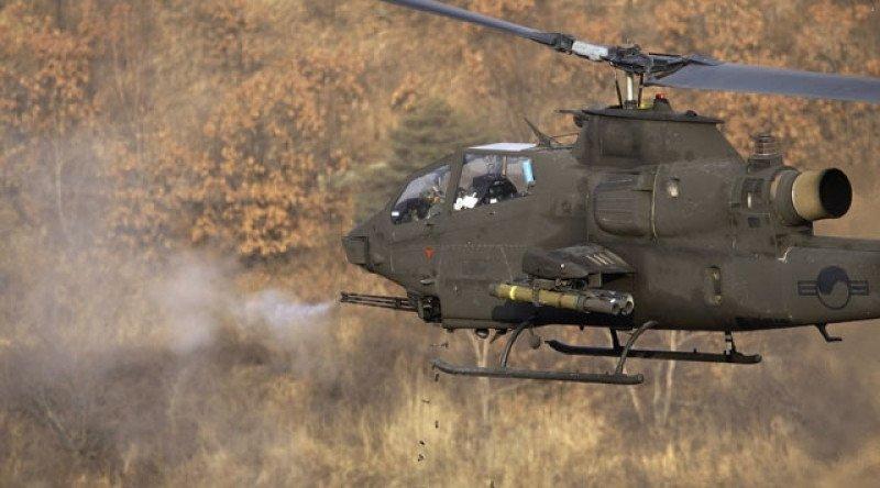 Un helicóptero de combate como los utilizados en operaciones militares contra la guerrilla kurda del PKK.