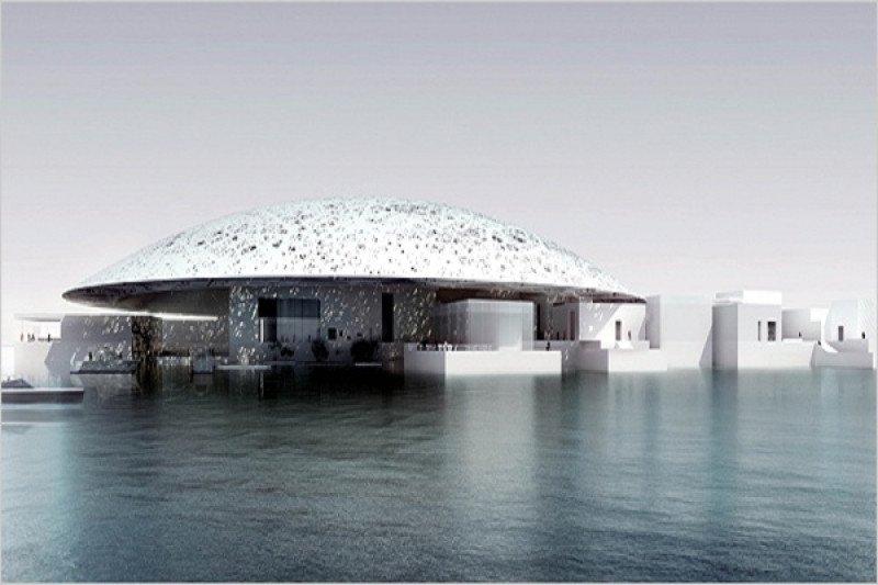 Diseño de Jean Nouvel del futuro Museo del Louvre de Abu Dhabi