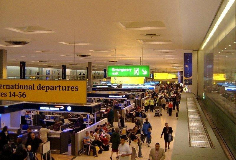 La T1 de Londres-Heathrow, primer aeropuerto de Europa en términos de tráfico.