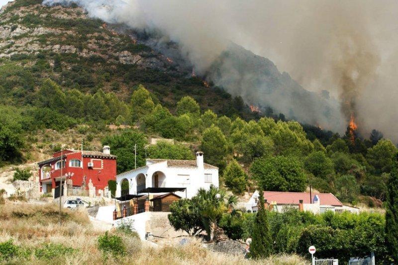 Imagen de los incendios de este verano en la provincia de Valencia.