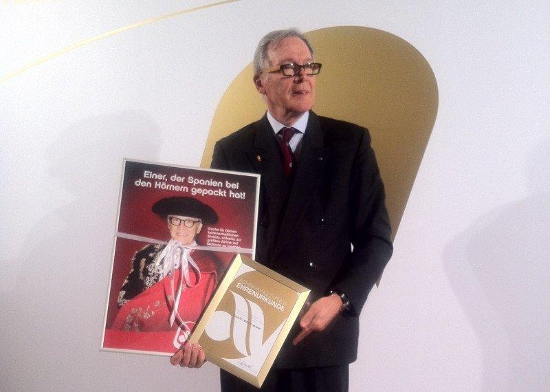 Álvaro Middelmann: emotivo reconocimiento de airberlin y el sector turístico español