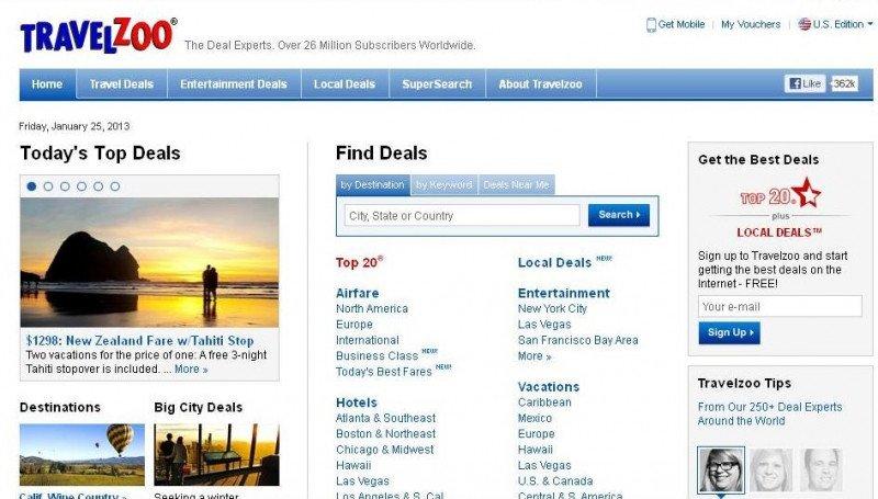 Travelzoo ganó 13,5 M € en 2012