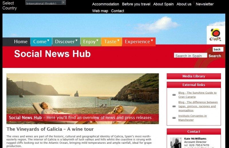 El Social News Hub, impulsado por la Oficina Española de Turismo en Londres.
