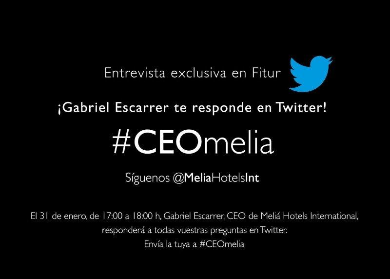 El hashtag para seguir la entrevista es #CEOmelia.