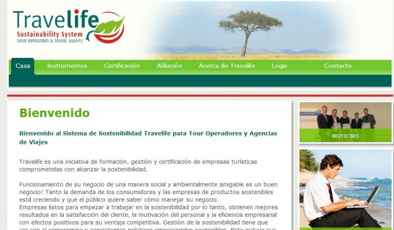 Web de Travelife.