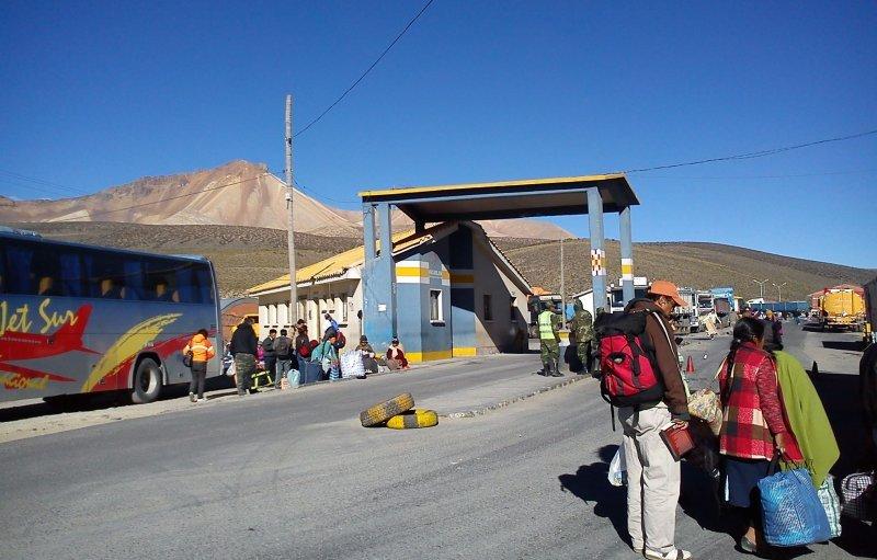Paso fronterizo Tambo Quemado.