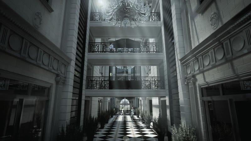 Interior proyectado del Hyatt Condo Hotel de Montevideo