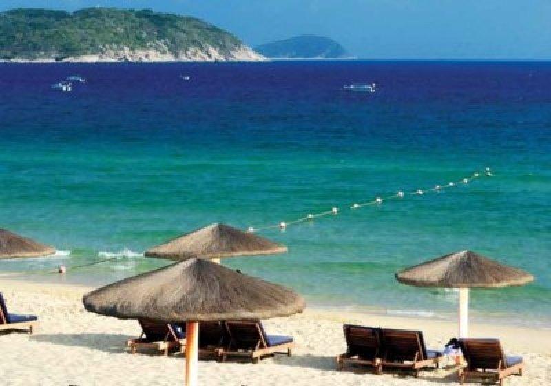 Una de las playas de la isla de Hainan, China.