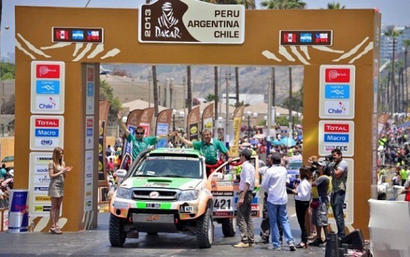 Largada del Dakar 2013, en Lima.