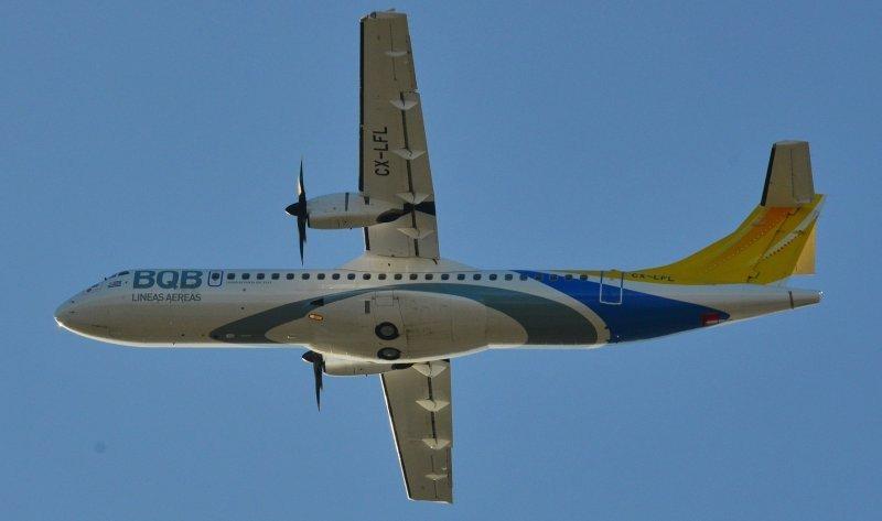 BQB recibe avión con el que cubrirá Montevideo-Porto Alegre.