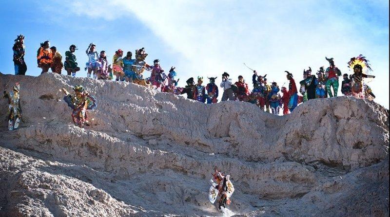 Carnaval en la Quebrada de Humahuaca (Jujuy), se produce el desentierro del pujllay o diablo.