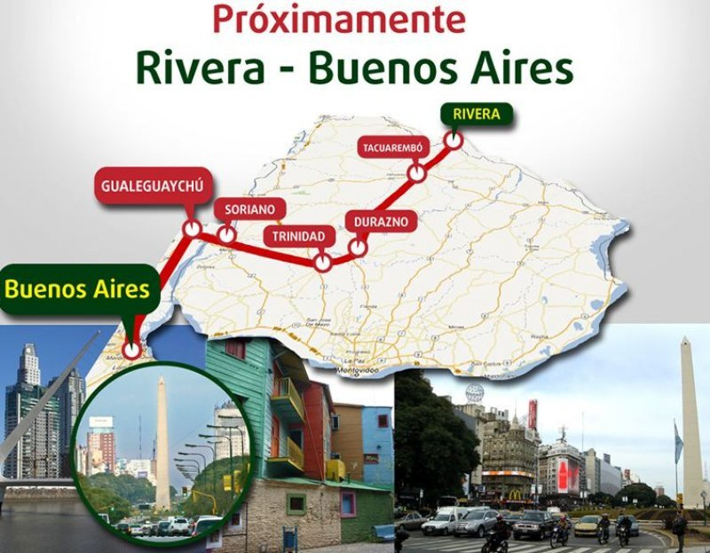 Recorrido Rivera-Buenos Aires.