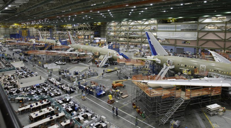 Boeing redujo sus beneficios en un 3% durante 2012