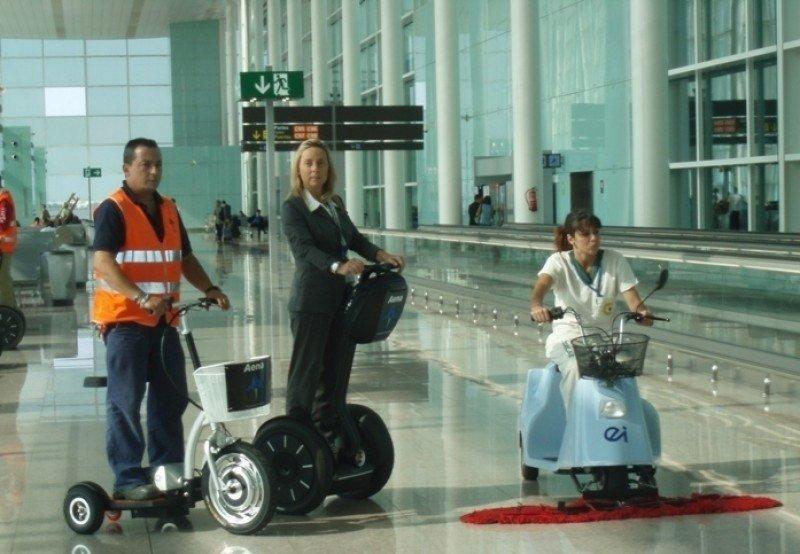 Trabajadores del aeropuerto de Barcelona-El Prat.
