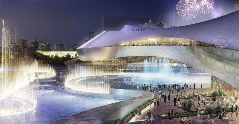 Fuentes y arquitectura futurista se combinarán en su diseño.