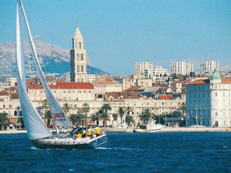 El puerto de Split, Croacia.