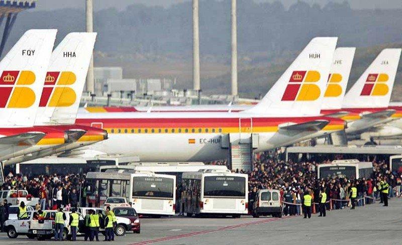 Servicios mínimos para la huelga en Iberia