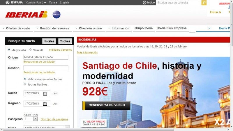 Iberia cambia el vuelo a 70.000 pasajeros afectados por la huelga