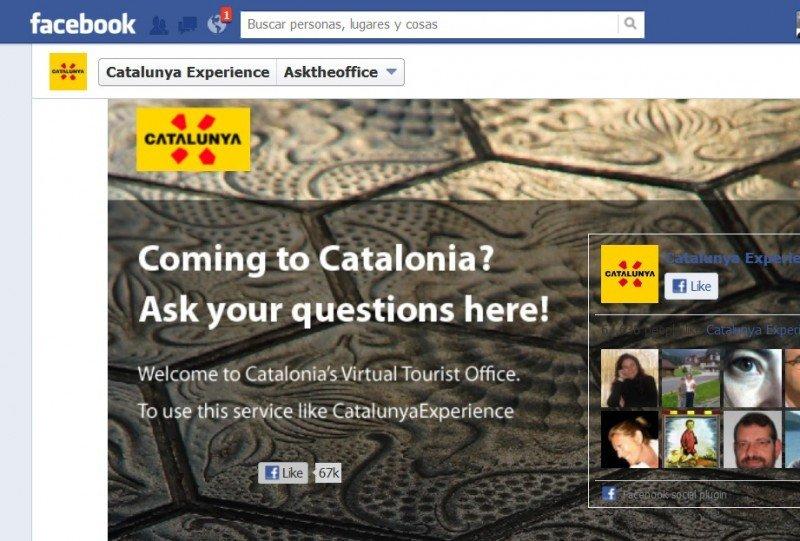 Facebook estrena la oficina de turismo virtual de Cataluña.