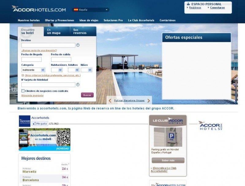 Accor invertirá 30 M € anuales en aumentar sus ventas online.