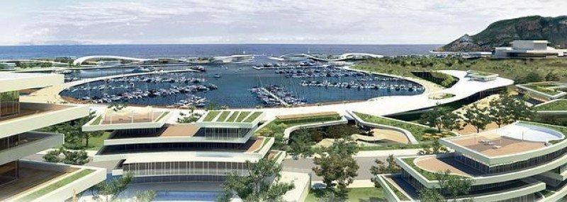 El proyecto de la Marina de Cope contemplaba crear un puerto deportivo y 20.000 plazas turísticas y residenciales.