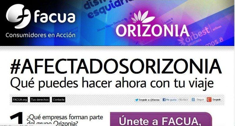 Facua crea una plataforma para los consumidores afectados por Orizonia