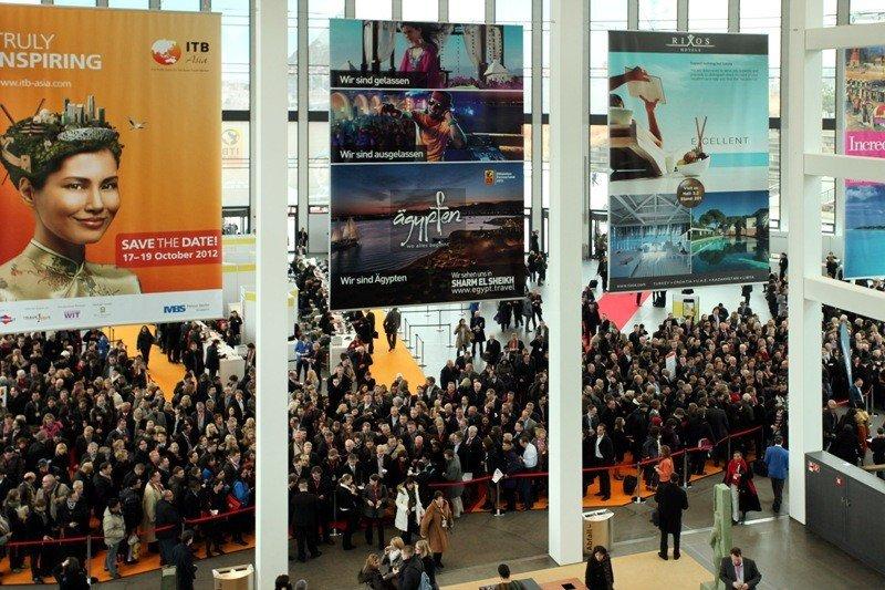 Acceso a la feria ITB de Berlín, en una imagen del año pasado. La ITB 2013 abrirá sus puertas el próximo 6 de marzo.