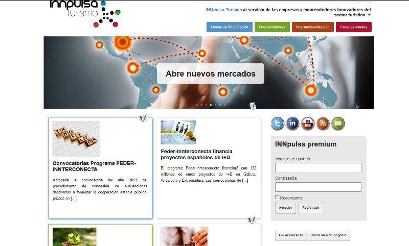 El nuevo portal del Ministerio de Industria, Energía y Turismo.
