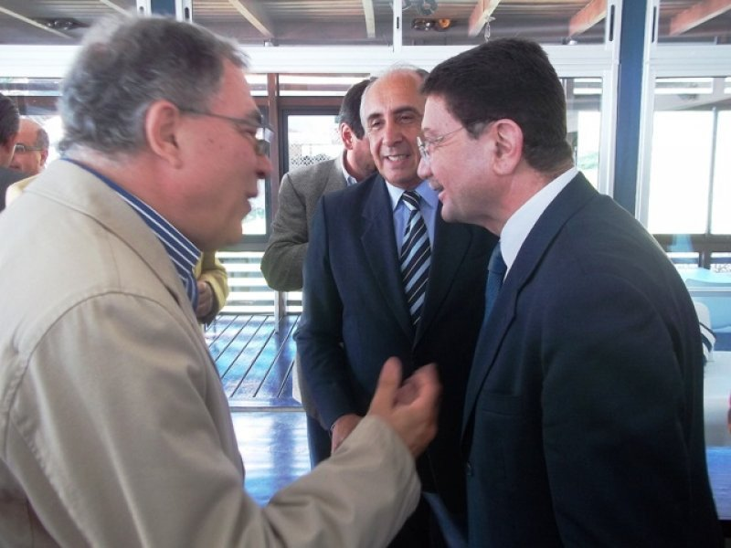 Luis Borsari junto a Taleb Rifai, secretario general de la OMT