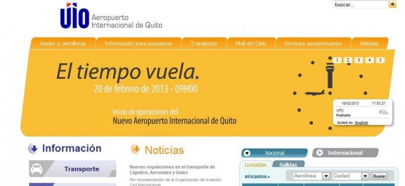 Nuevo aeropuerto de Quito costó US$ 683 millones
