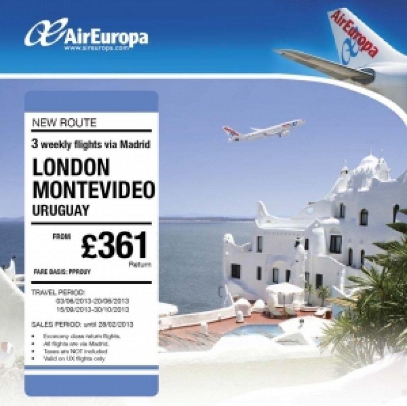 Air Europa promociona en Londres la ruta a Montevideo vía Madrid