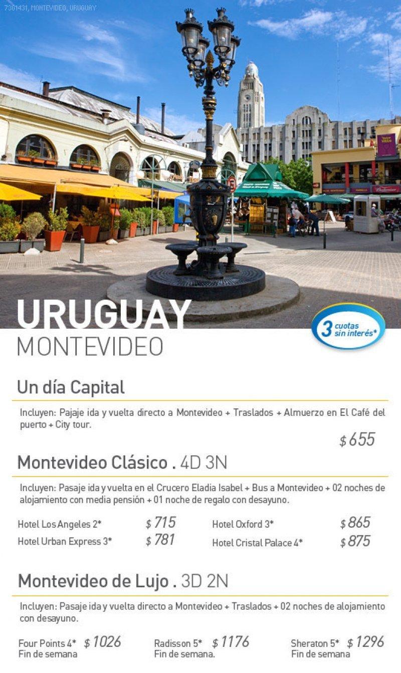 Oferta de paquete de Montevideo para Argentina