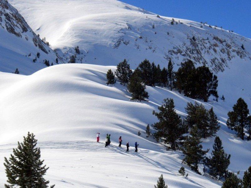 La nieve en Baqueira Beret alcanza espesores de 4,5 metros.