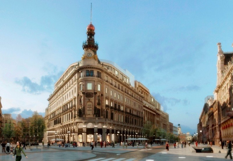 Vistas esquina calles Alcalá-Sevilla. Infografía preliminar, pendiente de determinar.