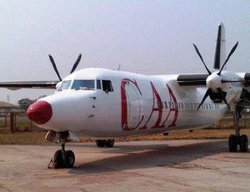 El avión pertenece a la compañía CAA. Foto AFP.