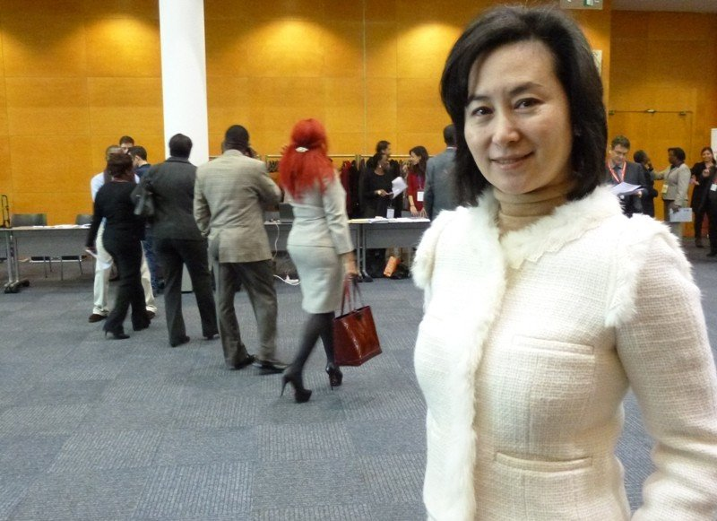 Pansy Ho, el pasado mes de enero, durante su paso por Fitur.