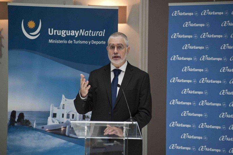 El director nacional de Turismo de Uruguay, Benjamín Liberoff, en la presentación del destino en Madrid.