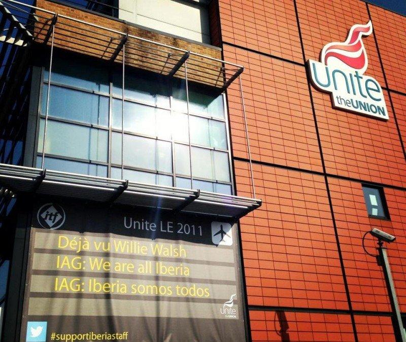 Fachada de las oficinas de Unite frente a las de IAG.
