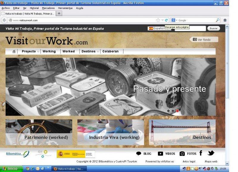 Pantallazo de la nueva web VisitOurWork.